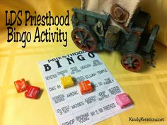 #LDS Priesthood #Bingo Activity for lesson help or youth activity. Great review or teaching lesson.
