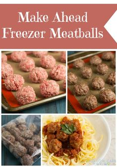 Make Ahead Freezer Meatballs | Living Low Carb One Day At A Time