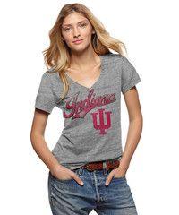 Indiana Hoosiers IU V-Neck T-Shirt