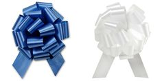 Christmas Hannukah Gift Wrap- White and Royal Blue Satin Pull Bows Value Pack - 12 Pcs * Be sure to check out this awesome product.