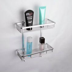 KES A4026 Aluminum Bathroom 2-Tier Shelf Basket Wall Mounted, Silver Sand-Sprayed Kes http://www.amazon.com/dp/B00J0U74GE/ref=cm_sw_r_pi_dp_r8LVwb17N2H5X