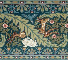 Woodland Roomset: Deer & Rabbit Frieze; Eucalyptus.  Bradbury & Bradbury Art Wallpapers. http://www.bradbury.com/victorian/drf_550_euc.html