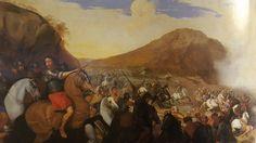 ANDREA DE LIONE ( Naples 1610 - 1685). BATTLE. oil on canvas. 111 × 128 cm. Provenance: Naples, Marchesa Santangelo Collection, until 1967. Naples. Museo di Capodimonte. Inv. no. 8315.