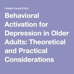 cognitive therapy and the elderly Cognitive training for older adults: what is it and does it work alexandra kueider, krystal bichay, and george rebok  older adults is the advanced cognitive.