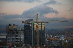 Telus Garden Construction Cranes   Flickr - Photo Sharing!