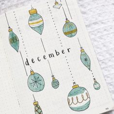 58 Stunning December Bullet Journal Cover Page Ideas - Bliss Degree