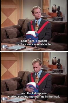 This is one of my favourite Frasier episodes. I love Niles.