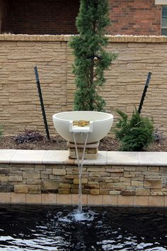 Pool Water Feature Ideas  Beautiful Cast Stone Swimming Pool Water Feature Wwwonespecialtycom