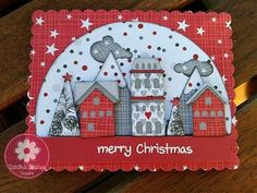 Tim Holtz Christmas Snowglobe card - YouTube
