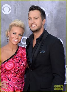 Luke Bryan: ACM Awards 2014 Red Carpet with Wife Caroline! | 2014 ACM Awards, Caroline Boyer, Luke Bryan Photos | Just Jared