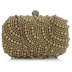 Geanta plic bej perlata Sandra Anna Grace, Womens Purses, Clutch Bag, Shoe Bag, Jewelry, Design, Formal, Preppy, Jewlery