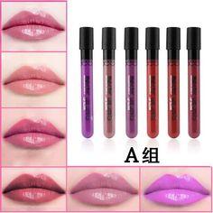 6 Color matte son môi lỏng Thương Hiệu Batom Maquiagem Lâu Dài Trang Điểm Không Thấm Nước Danimer Bút Chì Lip Stick