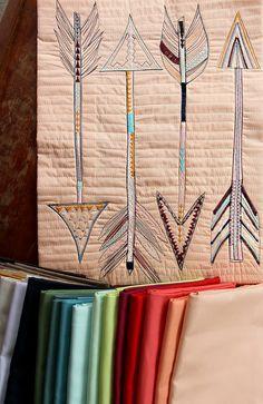 Sketch Stitch Arrows on PE Peach Sherbet by maureencracknell, via Flickr