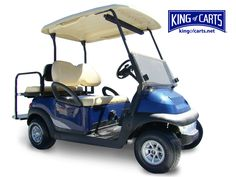 Classic blue golf cart with rear seat for sale. South Carolina and Indiana