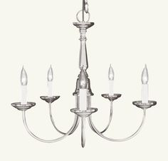 Livex Lighting Home Basics Brushed Nickel Chandelier 6030-91