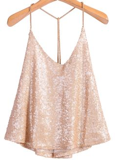 To find out about the Apricot Criss Cross Sequined Vest at SHEIN, part of our latest Tank Tops & Camis ready to shop online today! Girls Summer Outfits, Pink Outfits, Cool Outfits, Casual Outfits, Lulu Fashion, Teen Fashion Outfits, Sparkly Crop Tops, Sparkle Outfit, Elegant Outfit