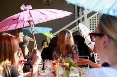 """Best Places for Afternoon Tea in Victoria and Melbourne - """"Sup in the sun . parasols and retro frills pack the terrace at Madame Brussels, where cupcakes and other old-fashioned treats reign. Shotgun Wedding, Pop Up Bar, High Tea, Fun Drinks, Restaurant Bar, Afternoon Tea, Wine Recipes, Melbourne, Brussels"""