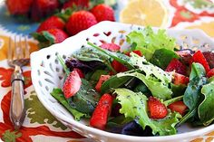 Home     About     Recipes     Recipe Box     Contact     Work With Me         Press         Site Policies  Strawberry and Mixed Green Salad with Poppy Seed Vinaigrette