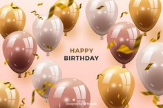 Birthday background with balloons Free Vector - Happy Birthday Best Friend Quotes, Birthday Wishes With Name, Funny Happy Birthday Images, Moms 50th Birthday, Happy Birthday Wishes Cards, Happy Anniversary Wishes, Happy Birthday Ballons, Happy Birthday Wallpaper, Birthday Background