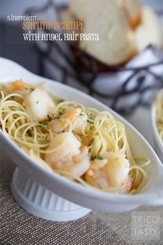 5-Ingredient Shrimp Scampi with Angel Hair Pasta | Tried and Tasty