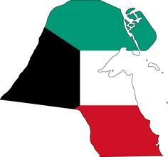 Kuwait Flag Map - Mapsof.net