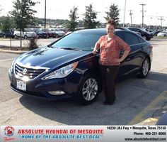 https://flic.kr/p/xu8mVt | #HappyAnniversary to Carie and your 2013 #Hyundai #Sonata from Johnny Phimphasone at Absolute Hyundai! | www.deliverymaxx.com/?utm_source=FlickR&utm_medium=Be...