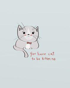 Fat Cat Illustration Art Print Cute Animal Art by heygokey on Etsy, $16.00