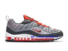 sale retailer b1d29 aea0a Nike Air Max 98 Total Crimson Gris Rouge Chaussure de BasketBall Pas Cher  Pour Homme 640744-006 - 1807160132 - Retrouvez la marque Nike en ligne sur  ...