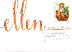 Hand lettering, addressing envelope