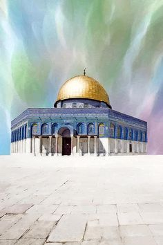Yellow Photograph - Colors Dome of the Rock by Munir Alawi Palestine Art, Dome Of The Rock, Watercolor Architecture, Islamic Posters, Islamic Art Pattern, Islamic Art Calligraphy, Calligraphy Alphabet, Islamic Paintings, Beautiful Mosques