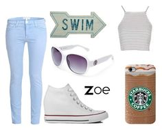 """Zoe - Casual"" by jijikooky ❤ liked on Polyvore featuring Current/Elliott, Topshop, Converse, GUESS and Dot & Bo"