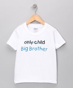 Look what I found on #zulily! White 'Big Brother' Tee - Toddler & Boys by Swinging on a Star #zulilyfinds
