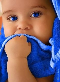 Beautiful colorful pictures and Gifs: Cute Kids / Niños Bonitos Beautiful Blue Eyes, Pretty Eyes, Cool Eyes, Amazing Eyes, Beautiful Beach, Simply Beautiful, Precious Children, Beautiful Children, Beautiful Babies
