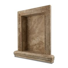 Walnut Travertine Hand Made Custom Shampoo Niche / Shelf   LARGE   Honed