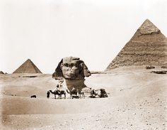 archaeoart: The Sphinx Giza Egypt date unknown. archaeoart: The Sphinx Giza Egypt date unknown. Ancient Ruins, Ancient Egypt, Ancient History, Tudor History, Giza Egypt, Pyramids Of Giza, Old Images, Old Photos, Vintage Photos