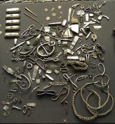 The Cuerdale Hoard is a hoard of more than 8,600 items, including silver coins, English and Carolingian jewellery, hacksilver and ingots. It was discovered on 15 May 1840. The Cuerdale Hoard is the largest Viking silver hoard ever found outside Russia, and exceeds in number of pieces and weight any hoard found in Scandinavia or any other western areas settled by the Vikings.