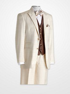 I can so see my baby in this Steve Harvey Taupe Windowpane Vested Suit Sharp Dressed Man, Dressed To Kill, Well Dressed Men, Mens Attire, Mens Suits, Big Man Suits, Steve Harvey Suits, Suit Fashion, Mens Fashion