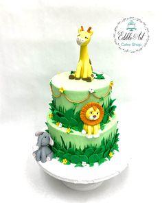 Baby Shower Cakes, Safari, Birthday Cake, Desserts, Food, Tailgate Desserts, Birthday Cakes, Deserts, Essen