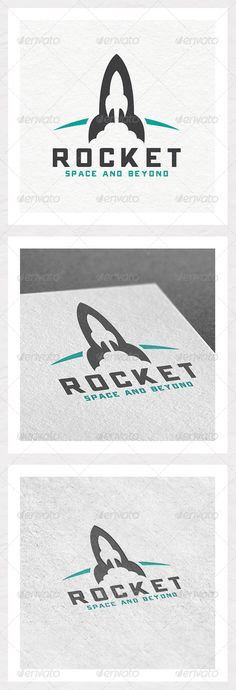 Rocket Logo Template — Vector EPS #rocket #craft • Available here → https://graphicriver.net/item/rocket-logo-template/5919923?ref=pxcr