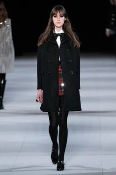Saint Laurent Is All Teddy Girls & Teddy-Bear Fur #refinery29  http://www.refinery29.com/saint-laurent-paris#slide1