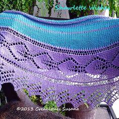 foldi: Frost flower lace shawl - free machine knitting pattern