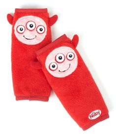 Look at this Nûby Red Monster Car Seat Strap Cover - Set of Two on #zulily today!