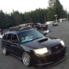 Chris wants this: Check out this on at (at AutoCon Seattle) Subaru Forester Sti, Subaru Wagon, Jdm Subaru, Subaru Cars, Subaru Impreza, My Dream Car, Dream Cars, Civic Ef, Slammed Cars