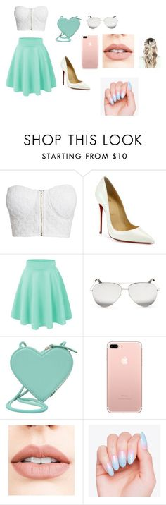 """""""casual"""" by arisofia on Polyvore featuring moda, NLY Trend, Christian Louboutin, Victoria Beckham, Christopher Kane y Jouer and like OMG! get some yourself some pawtastic adorable cat apparel!"""