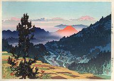 Morning at Kanbayashi  by Ito Shinsui, 1948  (published by Watanabe Shozaburo)