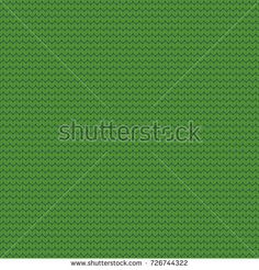Seamless knitted pattern. Christmas background, backdrop for layouts, Wallpaper, printing on fabric, paper, banners, web pages. Knit texture. Green color. Vector illustration