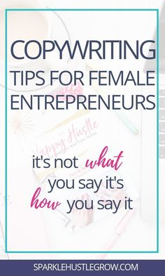 Copywriting tips for female entrepreneurs. Simple tips and ideas for online business owners and bloggers. Creative copywriting inspiration for girl bosses and freelancers. #copywriting #blogging #entrepreneur Creative Business, Business Tips, Online Business, Business Quotes, Business Website, Marketing Trends, Business Marketing, Content Marketing, Email Marketing