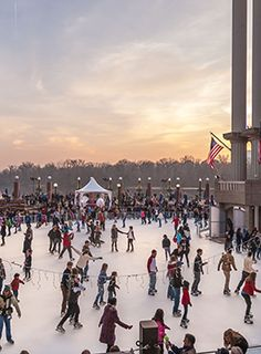 The Washington Harbour in Georgetown is open for ice skating from November until March.