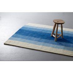 whkmp's own vloerkleed  (230x160 cm), blauw/ivoor