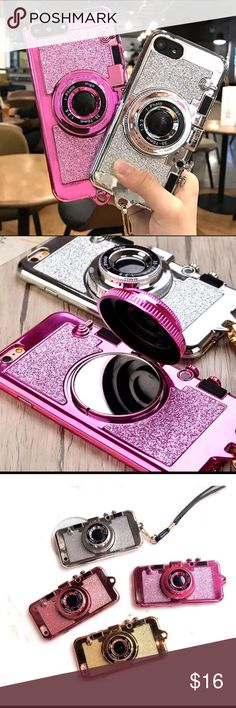 Camera Case! Available : iPhone 6/6s Pink, iPhone 6/6S Gold, iPhone 6 Plus Pink, iPhone 7 Pink& Gold. Accessories Phone Cases